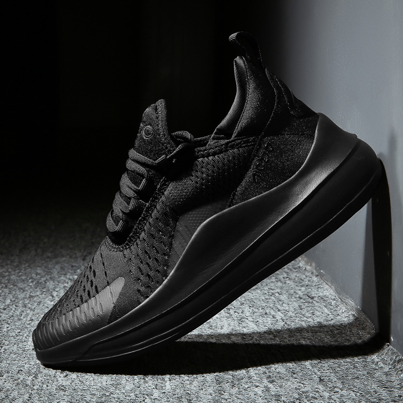 New 2019 Men Running Shoes Man Spring Breathable Mesh Sport Shoes Outdoor Athletic Male Sneakers Thick Sole Height Increasing