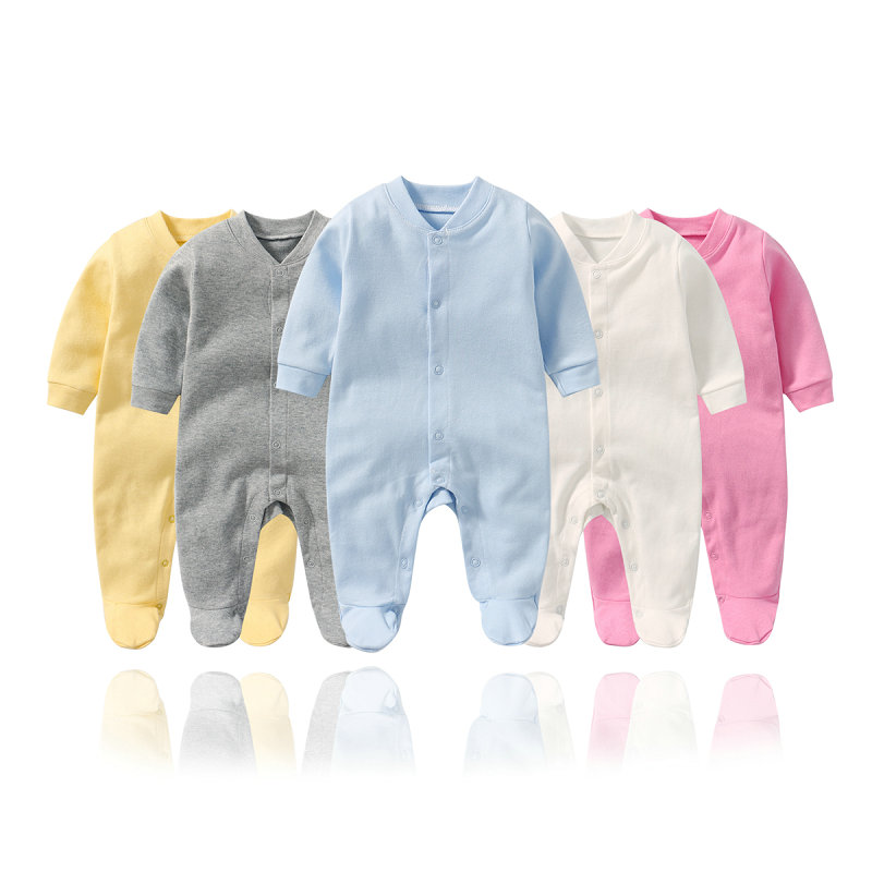 New Born Infant Baby Girl Boy Jumpsuit One-Pieces Footies Baby Clothing Cotton Unisex Newborn Footies Jumpsuit Sleep Play Cloth