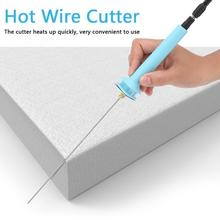 1 세트 24 w 거품 커팅 펜 20 cm 전기 핫 와이어 커터 거품 폴리스티렌 열 커팅 조각 펜 110 250 v 핫 와이어 펜