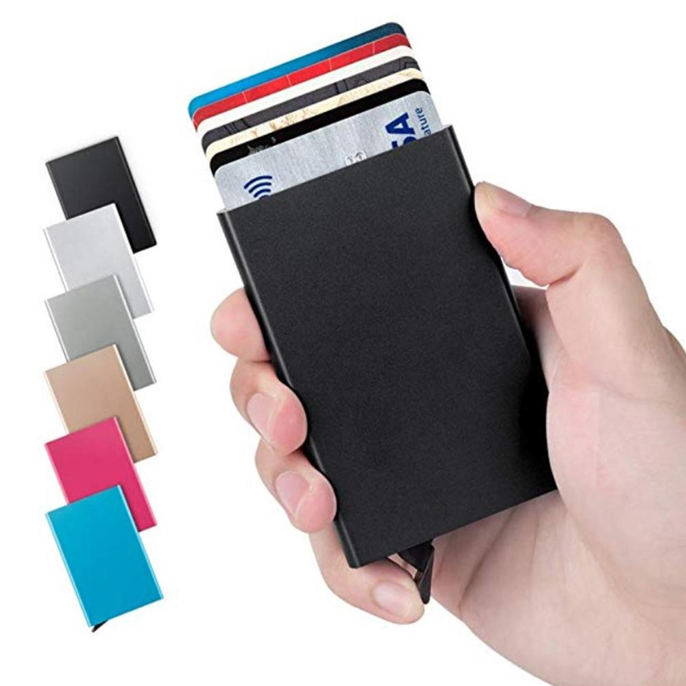 None Card Case Anti-degaussing Aluminum Alloy Credit  Card Holder