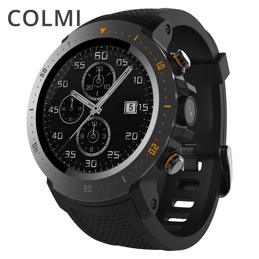 COLMI Phare 4g montre Smart watch Android 7.1 OS MTK6739 1 gb + 16 gb 400*400 Affichage 530 mah IP67 étanche GPS Hommes Smartwatch