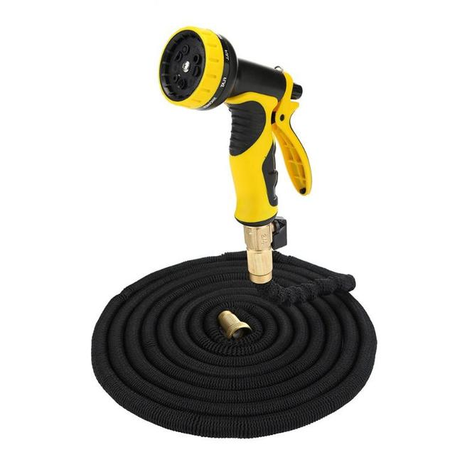 25/50/75/100FT  Expandable Magic Flexible Hose Garden Watering Gun Car Wash Sprinkler Kits