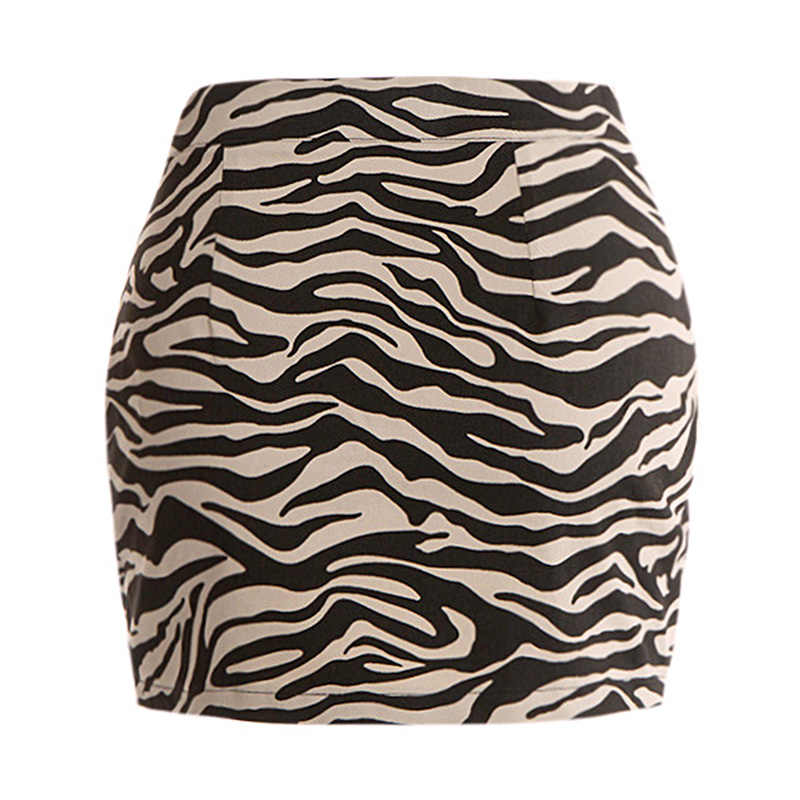 32a182b097eb ... Fashion Women Mini Skirt Leopard Zebra Print Zip-up Slit Front Slim  Bodycon Party Short