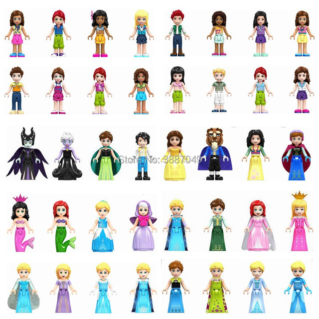 Locking Friends Princess Olivia Mia Kate Stephanie Emma Andrea Building Blocks Toys For Children Friends Locking