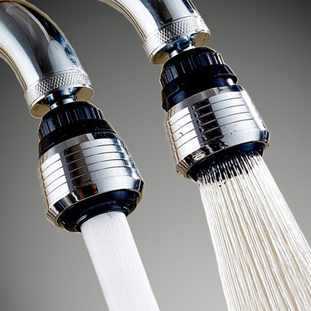 LanLan 360 Degree Rotating Faucet Filter Tip Water Filter  Bubbler Faucet Anti-splash Economizer Kitchen Faucets Supplies Black