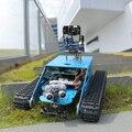 DIY робот для Raspberry <font><b>Pi</b></font> Танк умный Роботизированный WiFi беспроводной видео програм электронная игрушка Дети Взрослые совместимы с RPI 3B/3B +