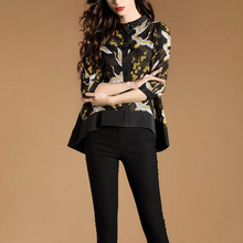#2990 2019 Spring Temperament Three Quarter Sleeve Shirt Wom