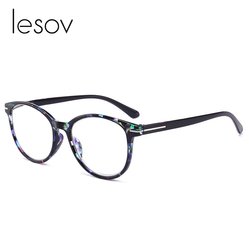 Lesov Vintage Printed Big Frame Reading Glasses Women Diopter Glasses Lentes De Lectura Mujer Glasses 1.0 1.5 2.0 3.0 3.5 4.0