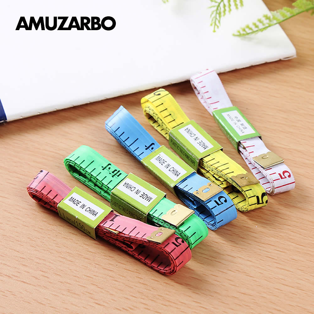 Household Tape Ruler 150cm Centimeter 60 Inch Cun Plastic Soft Office Study Baby Body Head Circumference Measure Gift
