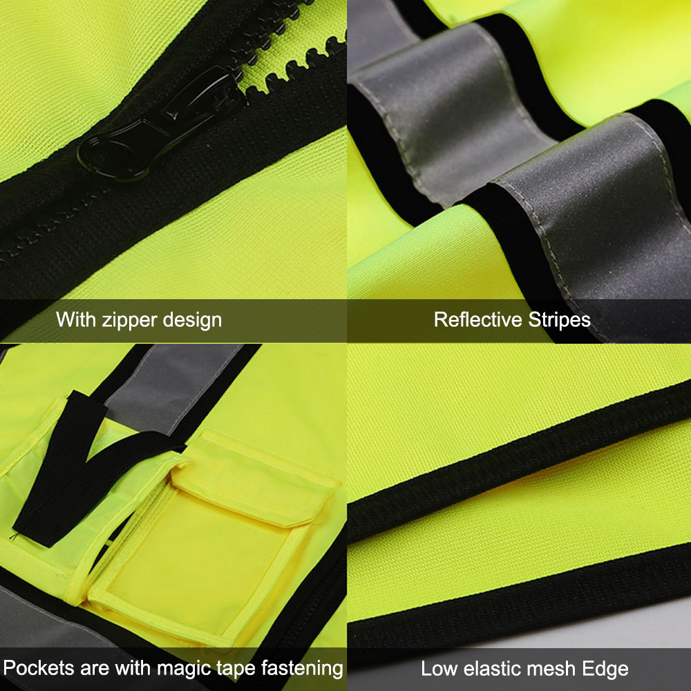 Image 4 - SFVest High Visibility Reflective Safety Vest Reflective Vest Multi Pockets Workwear Security Working Clothes Safety WaistcoatSafety Clothing   -