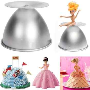 8\'\' Cake Mold Decorative Semicircle Princess Doll Dress Cake Pan Cake Baking Pan - Category 🛒 Home & Garden