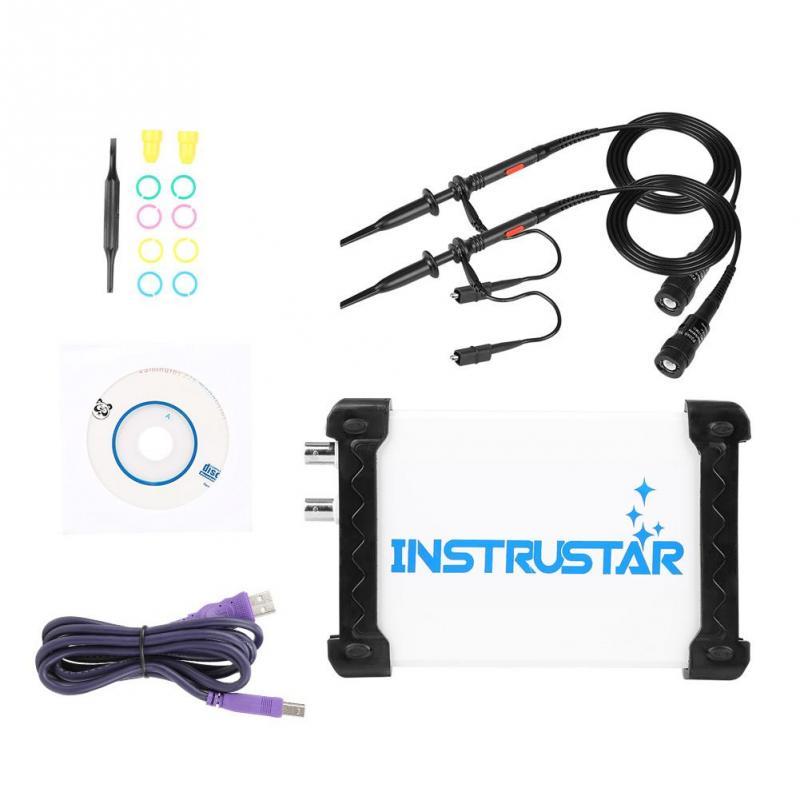 INSTRUSTAR ISDS205A 3 in 1 20MHz Digital Oscilloscope Kit PC USB Oscilloscope Spectrum Analyzer Data Recorder