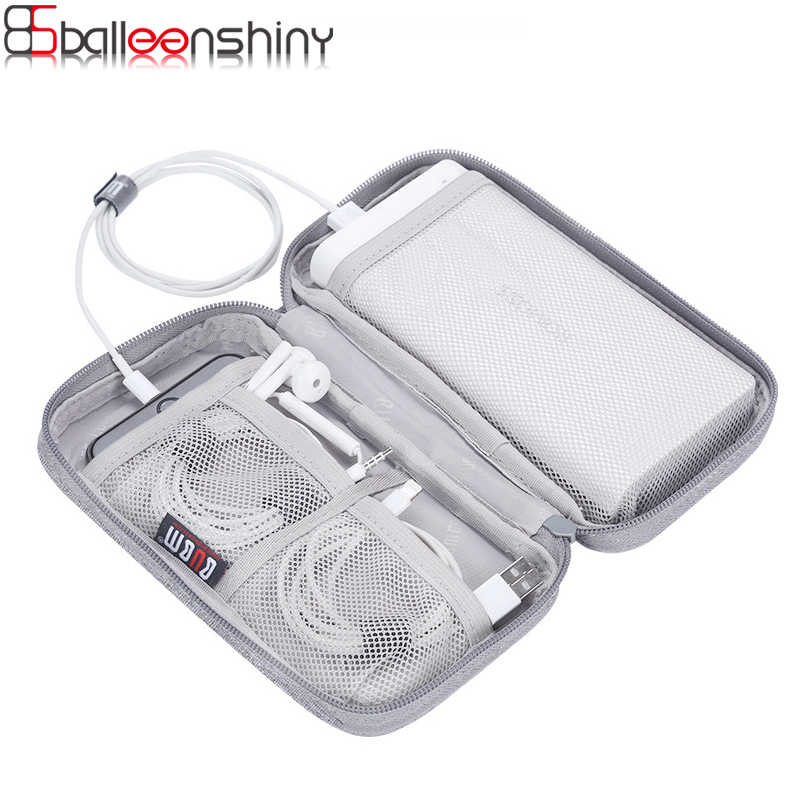 BalleenShiny Portable Power Source Storage Bag Digital Cable,Data Line Storage Bags Earphone Pouch Outdoor Travel Organizer