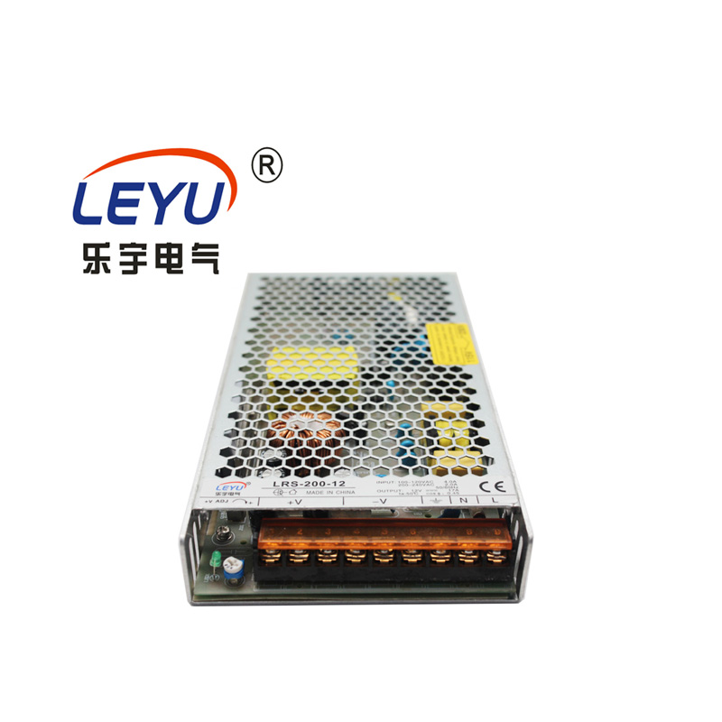 Hot Selling Single Output Power Supply LEYU LRS-200 series output 200W AC to DC 12 24V switching power supply image