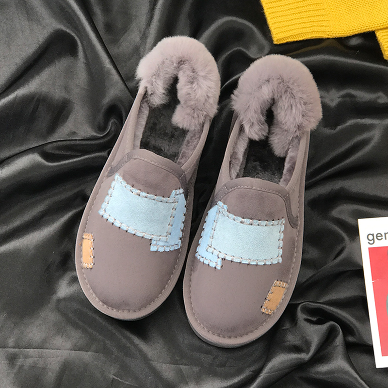Fashion Winter Women Shoes Patch Thickening To Keep Warm Female Footwear Non-slip Plus Flock Ladies Ankle Boots 17
