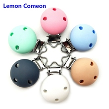 1PC BPA Free Round Shaped Baby Silicone Pacifier Clips Dummy Teether Chain Holder DIY Tool Toy Accessories