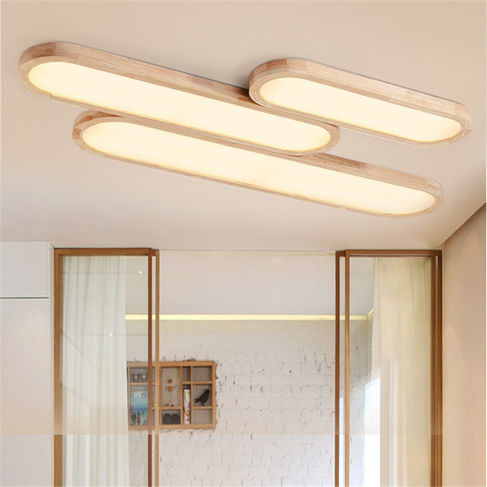 Japanese Lamps Puzzle LED Ceiling Light for Bedroom Living Room Nordic Tatami Long Strip Shape Solid Wood Office LED HanglampJapanese Lamps Puzzle LED Ceiling Light for Bedroom Living Room Nordic Tatami Long Strip Shape Solid Wood Office LED Hanglamp
