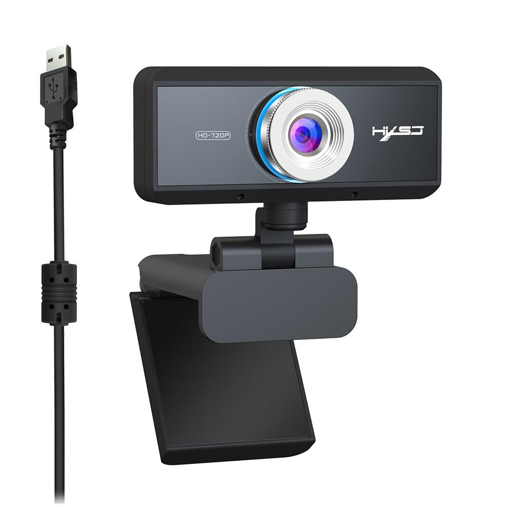 720P Wide Angle Computer Desktop Webcam Video Calling Auto Focus Livechat Camera-in Webcams from Computer & Office