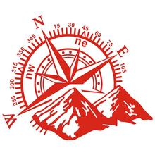 1pcs 3D High Quality Car Sticker Durable Compass Rose Navigate Mountain 4x4 Offroad Vinyl Decal Black White