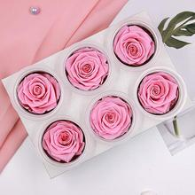 6 PCS Everlasting Rose Artificial Flowers Rose New Year Valentine's Mothers Day Gifts With Preserved Eternal Roses Box