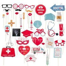 Doctor Nurse Photo Booth Props Graduation Party Decor Congrats Grad Medical Themed Photo Supplies Class of 2019 New Arrival class photo