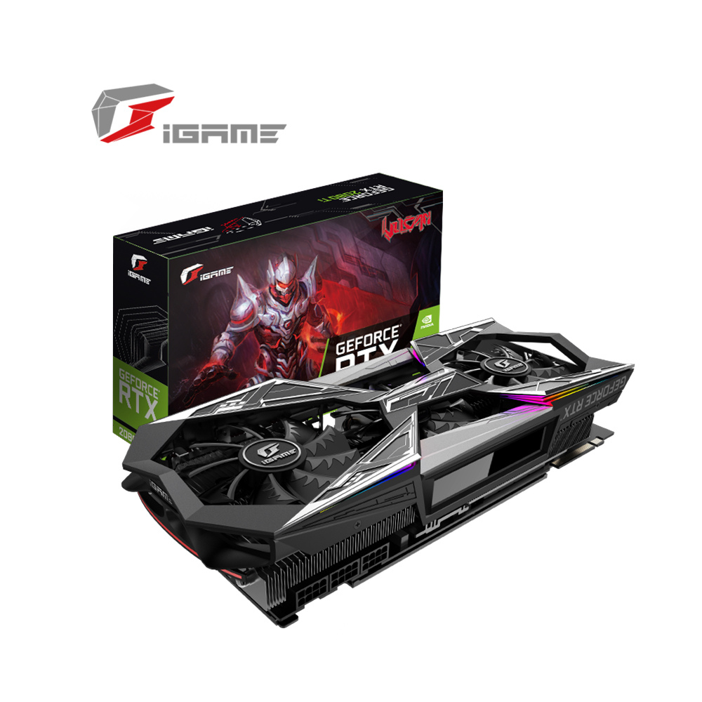 IGame coloré GeForce RTX 2080Ti carte graphique Vulcan X OC GDDR6 11G