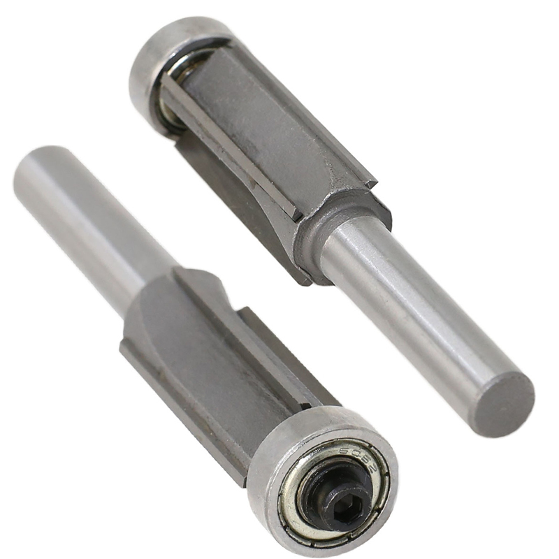 8mm Shank 4 Teeth Flush Trim Pattern Router Cutter Bit Bearing Woodworking Tool Part router bit 8mm Router Cutter Bit 0.01 USD-in Milling Cutter from Tools