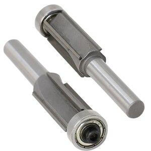 Image 1 - 8mm Shank 4 Teeth Flush Trim Pattern Router Cutter Bit Bearing Woodworking Tool Part router bit 8mm Router Cutter Bit 0.01 USD