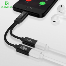 FLOVEME 2 In 1 Audio Converter For iPhone X XS 8 7 Plus Charger Earphone XR MAX 6 6s 5 Adapter Cable