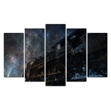 5 Panel Painting Print Painting Canvas Art Cosmic Train Modular Pictures Large Wall Pictures For Living Room Free Shipping