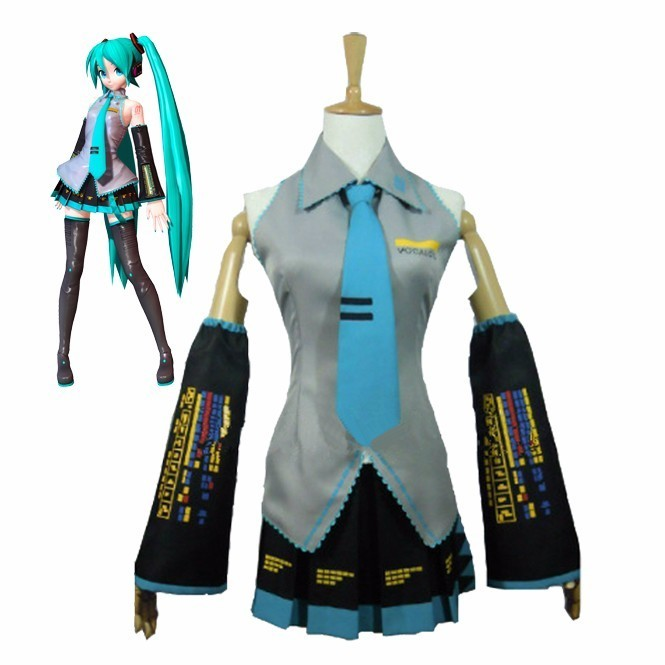 Vocaloid Hatsune Miku Cosplay Costume Full Set Uniform Outfit Halloween Women Dress Japanese Maid Servant Costumes