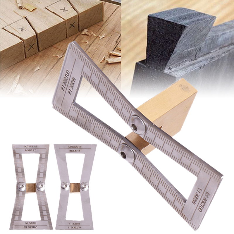 2 x DOVETAIL MARKER WOOD JOINTS GAUGE DOVETAIL GUIDE TOOL 1:5 1:8 DIY TOOLS