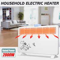 2000W 220V Electric Heater 6 Windows Heater Wall Metal Shell Stove Radiator Warmer Household Room Heating Fan Machine