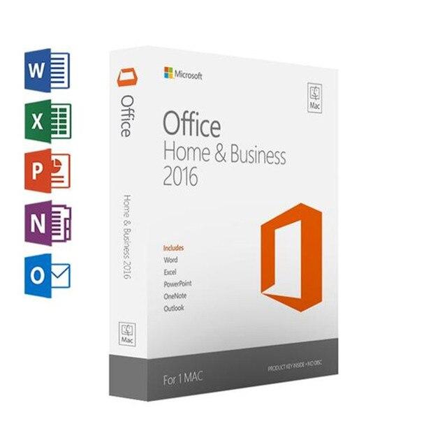 Microsoft Office בית ועסקים 2016 עבור Mac רישיון מוצר מפתח קוד הקמעונאי התאגרף