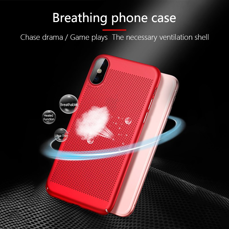 Matte Heat dissipation Phone Case For iPhone 11 Pro MAX 2019 XS MAX XR X Cooling Cover PC shell For iPhone 6 6S 7 8 Plus 5 5S SE