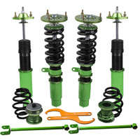 for BMW E46 3 Series Coilovers Suspension Kit 320i 323i 323Ci 325Ci Shock Strut Coil Springs + 2 control arms