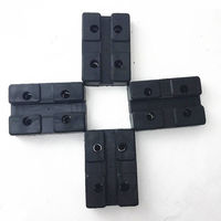 4pcs Heavy Duty Rectangle Car Rubber Arm Pad Protector Adapter Jacking Pads Tool Car Lift Accessories For Auto Truck Hoists
