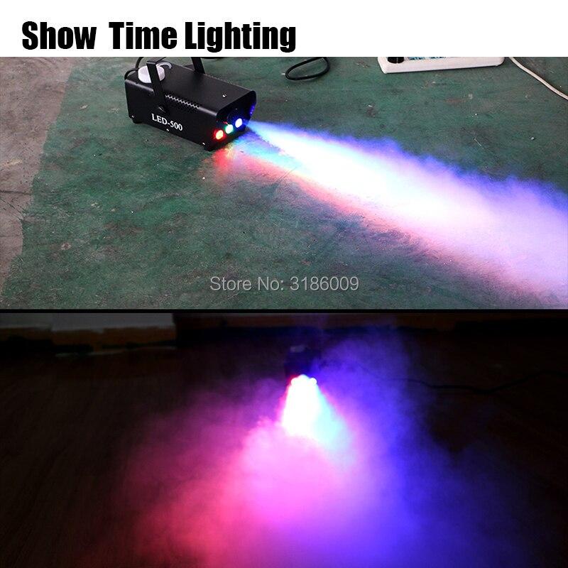 Offres spéciales 400W basse ligne de lumière disco machine à brouillard/télécommande machine à fumée RGB led DJ partie faire brouillard maison divertir