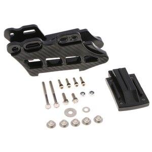 Image 2 - Guía/protector de cadena trasera para motocicleta, Pieza de plástico negra, para DirtBike CRF KLX KDX KXF RM RMZ DRZ YZ YZF WRF Rub Block