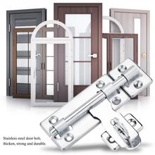 Stainless Steel Door Bolt Security Home Door Latch Padlock Sliding Barrel Bolts Window Lock Hardware Accessories pestillo puerta stainless steel door bolt security guard lever action flush latch 4 inch slide bolt lock for furniture hardware