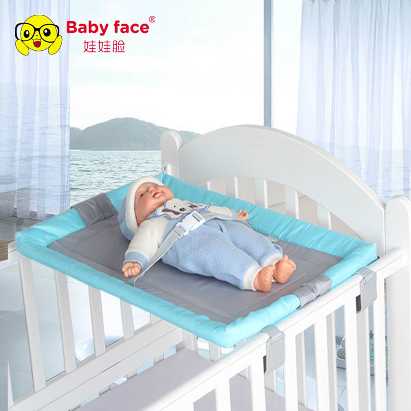 Baby Diaper Table Newborn Baby  Game Bed Foldable Crib Wooden Bed Universal Safety  Multifunction Diaper Table