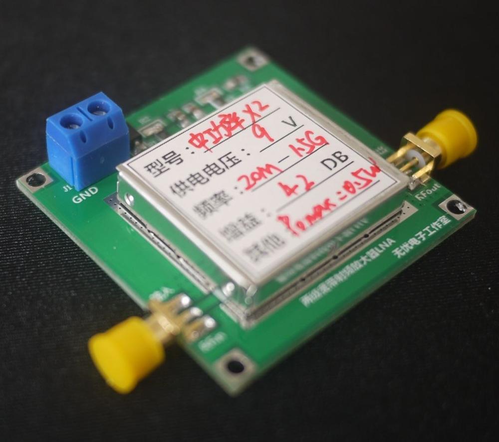 DYKB 10MHz-1500 MHZ 0 5W Amplifier FM VHF FM Transmitter Broadband RF  Amplifier Gain: 42DB