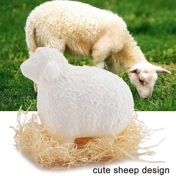 LED Animal Night Light Print Sheep Shape RGB 16 Multiple Colors With USB Charging Night Light Remote Control Lamp