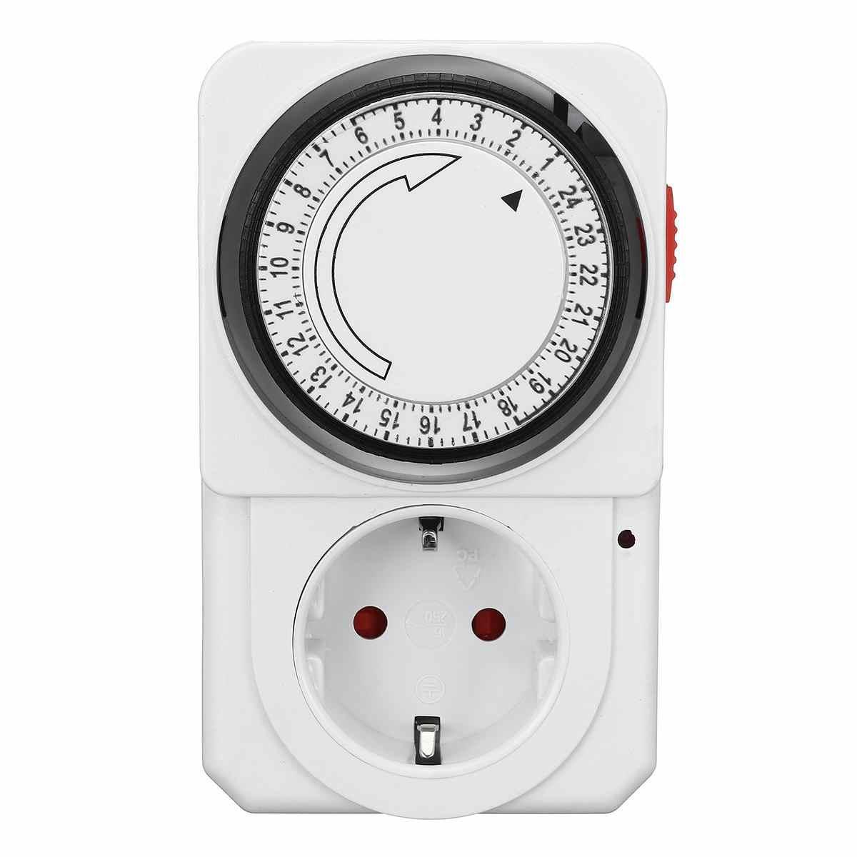 Mechaniczne 24 godzin Plug-in wyłącznik czasowy programowalny gniazdo elektroniczny stoper cyfrowy AU ue wtyczka UK US przełącznik zasilania wylot
