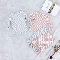 Children's Pajamas Set Striped Sleepwear Kids Pajamas for Girls Boys Nightwear Homewear Pyjamas enfant Kid Clothes Set 2019 New