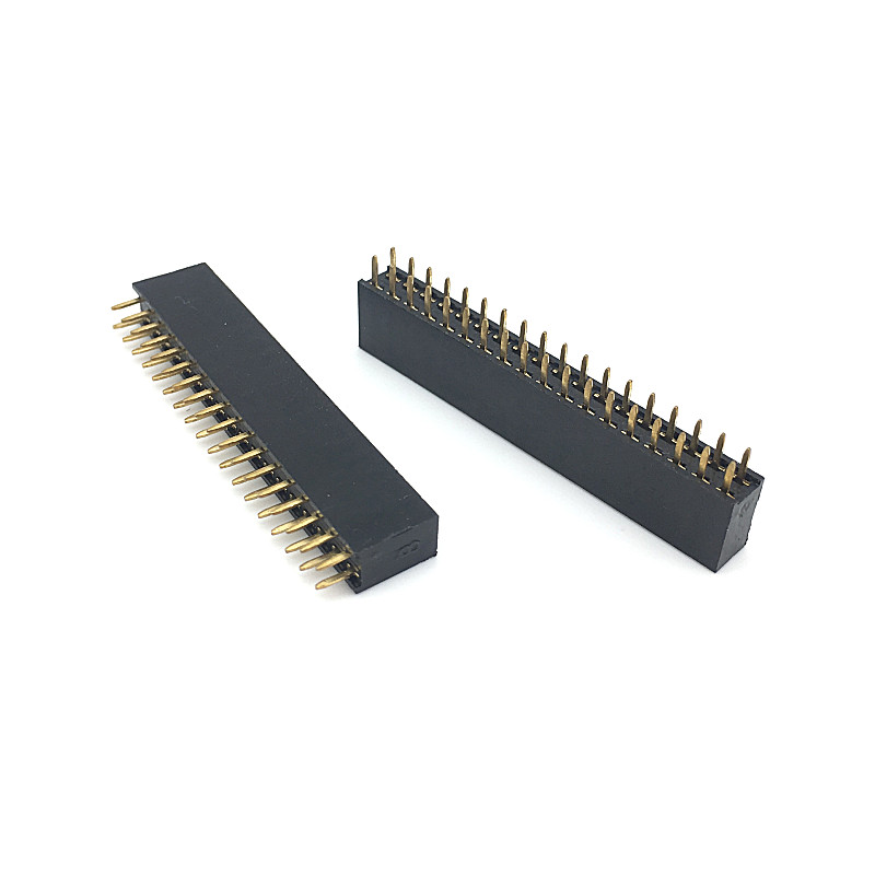 2.54mm Pitch Double Row Female 2~40P Pin Header Socket Connector Pinheader 2*2/3/4/6/7/8/9/10/12/16/18/20/25/30/40Pin
