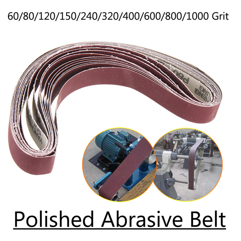 10pcs 40 To 1000 Grit 30mm X 580mm Sanding Belts For Belt Sander Attachment Use Motor/Angle Grinder High Quality