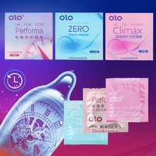 OLO 3 Pieces Box Ultra Thin Condom Lubricated Condoms Hyaluronic Acid Natural Latex font b Sex