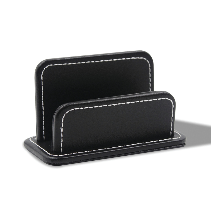 2 Blocks Office Stationery Leather Name Card Holder Black Stationery Bussiness Card Holder Name Cards Uesd Office Home