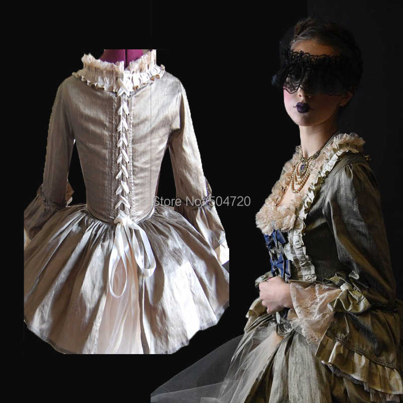 585cbbd0e27c5 Tailored!NEW Royal 18 Century French Duchess Retro medieval Renaissance  Reenactment Theatre Civil war Victorian dress HL-356